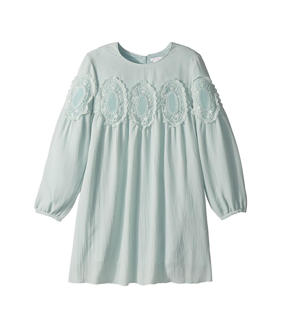 Chloe Kids - Couture Mini Me Long Sleeve Medallions Lace Dress (Little Kids/Big Kids) (Blue) Girls Dress