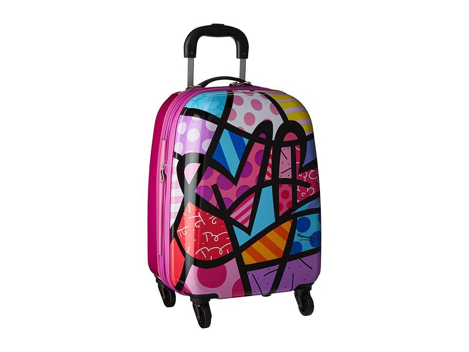 Heys America Britto Tween Spinner (Purple Hearts) Luggage