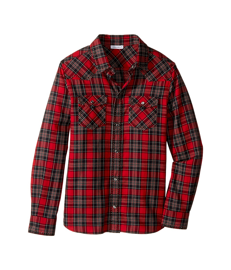 Dolce & Gabbana Kids - Check Tartan Button Down