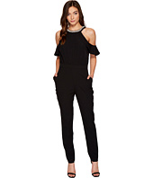 XOXO - Ruffle Cold Shoulder Jumpsuit
