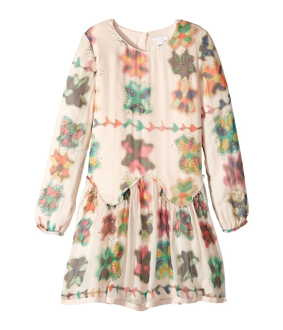 Chloe Kids - Couture Mini Me Long Sleeve Watercolored Details Dress
