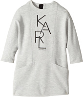 Karl Lagerfeld Kids - Long Sleeve Milano Dress with Logo Graphics (Toddler)