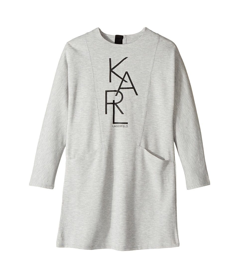Karl Lagerfeld Kids - Long Sleeve Milano Dress with Logo Graphics