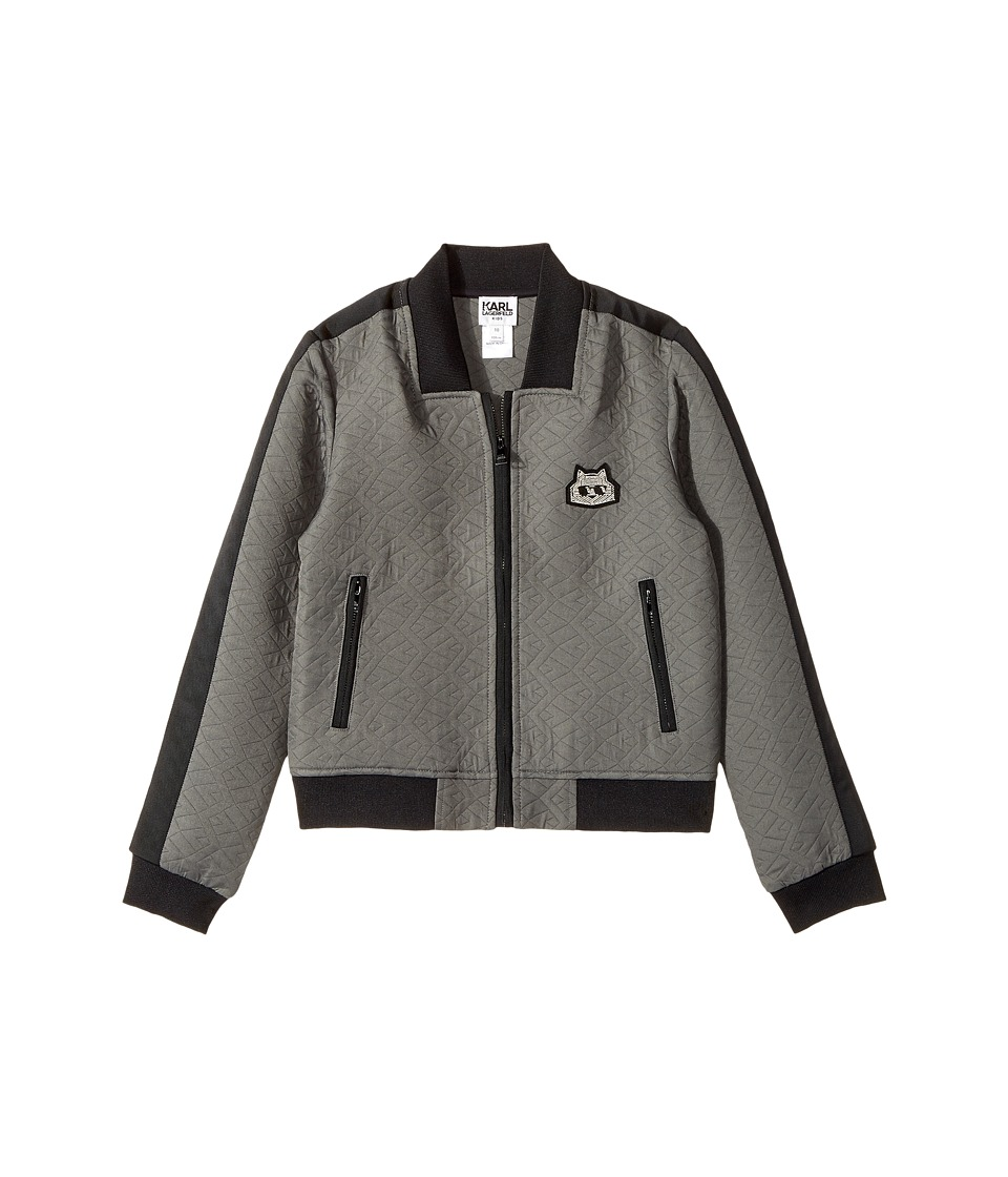 Karl Lagerfeld Kids - Jacquard Quilted Zip-Up Cardigan