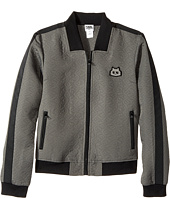 Karl Lagerfeld Kids - Jacquard Quilted Zip-Up Cardigan (Big Kids)