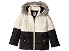 Karl Lagerfeld Kids - Two-Tone Puffer Jacket with Hood (Little Kids)