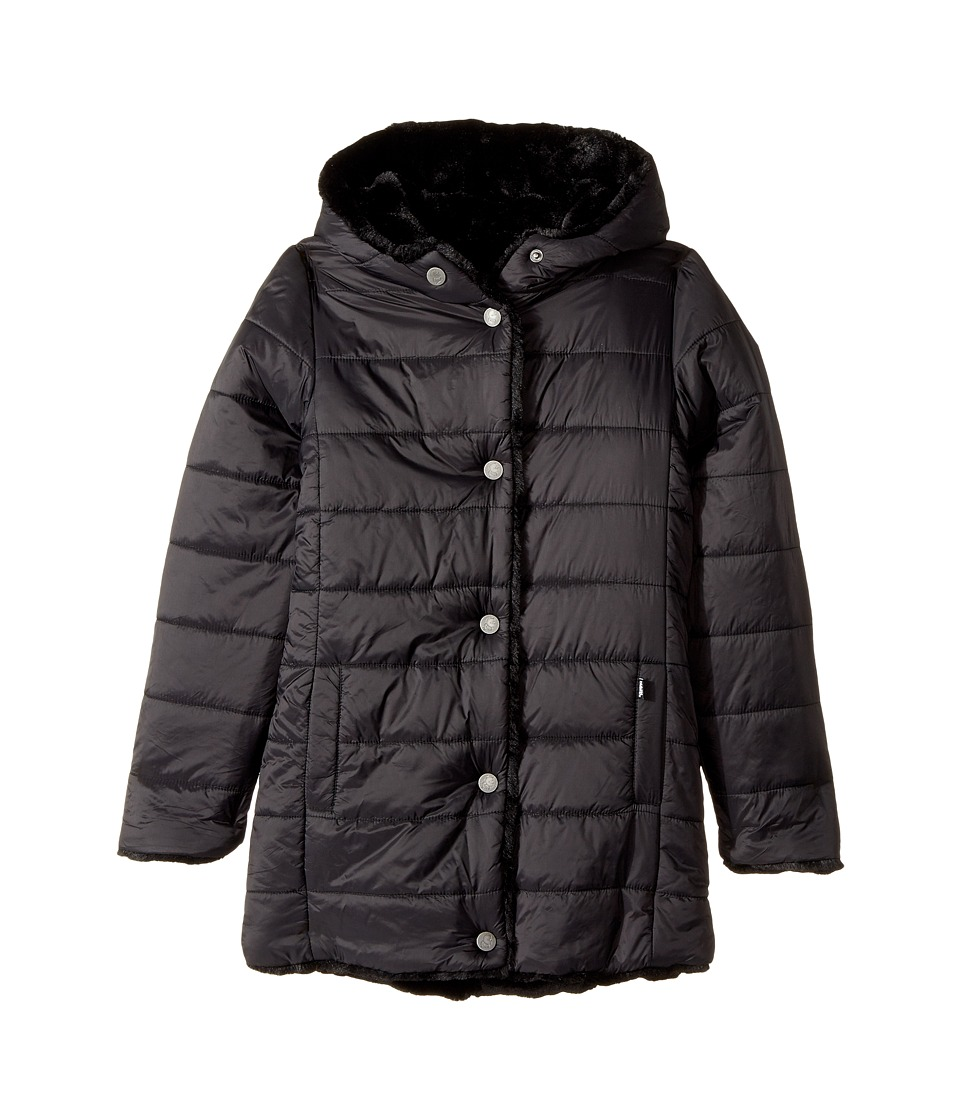Karl Lagerfeld Kids - Reversible Nylon Coat with Faux Fur...