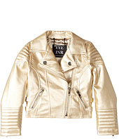 eve jnr - Vegan Leather Moto Jacket (Infant/Toddler/Little Kids)