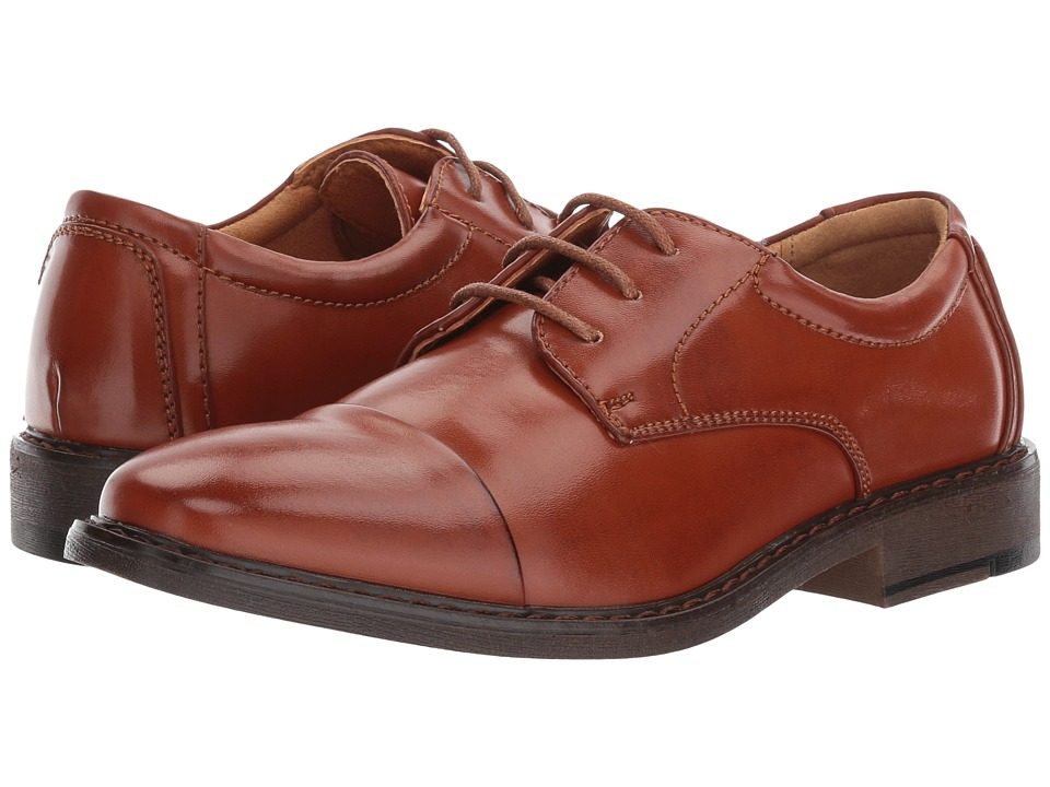 Stacy Adams Kids Templeton (Little Kid/Big Kid) (Cognac) Boy's Shoes