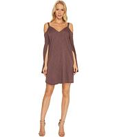Lanston - Cold Shoulder Split Sleeve Mini Dress