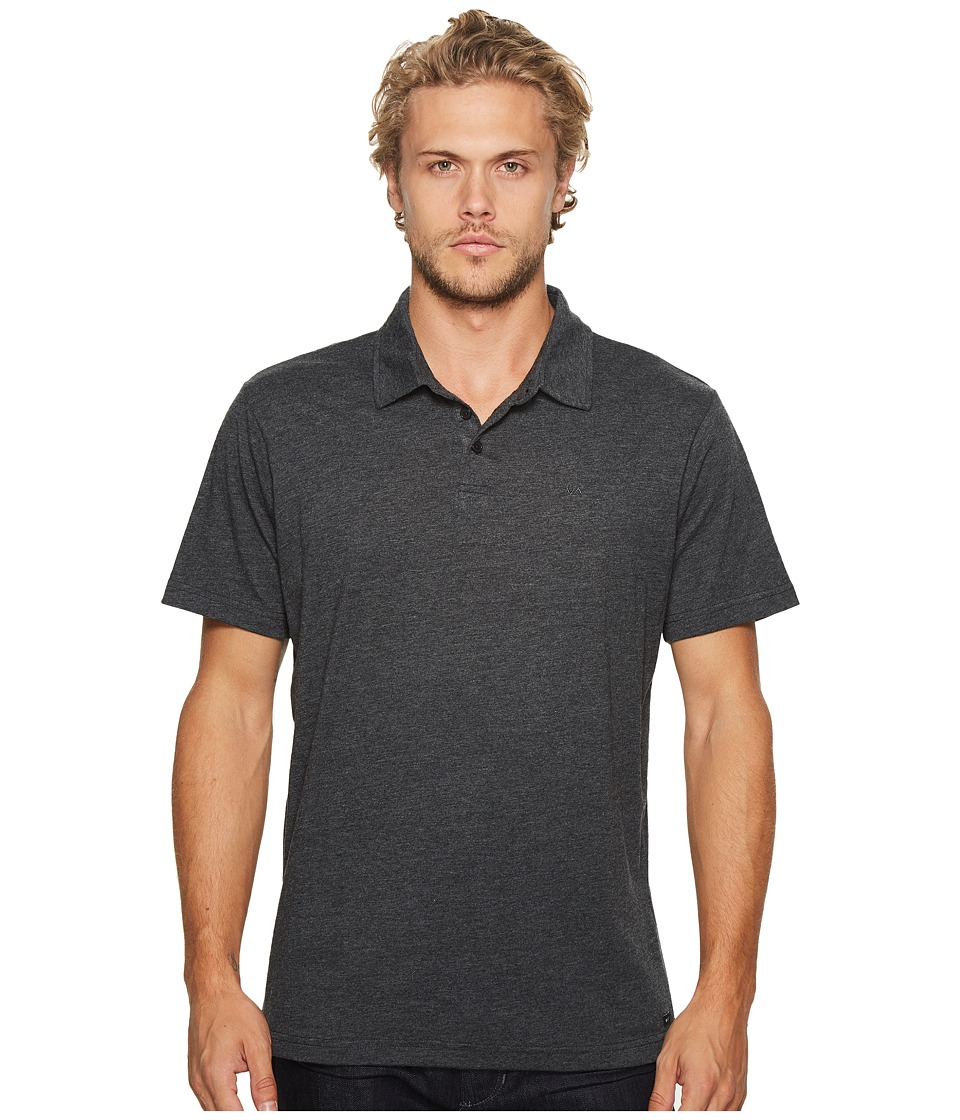 RVCA - Sure Thing II Polo (Charcoal Heather) Mens Clothing