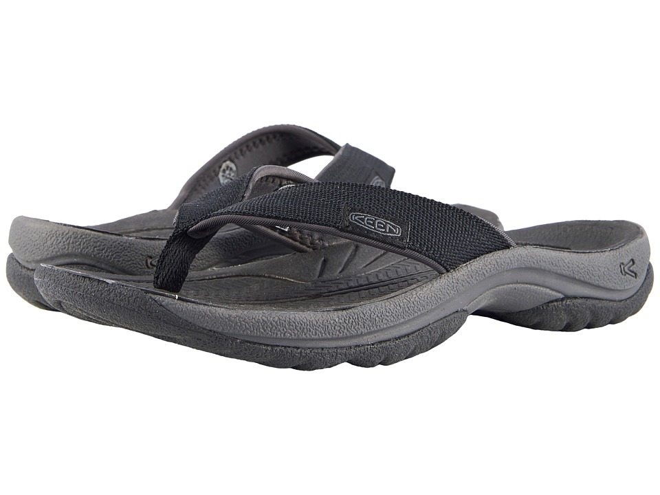 Keen - Kona Flip (Black/Magnet) Women's Sandals