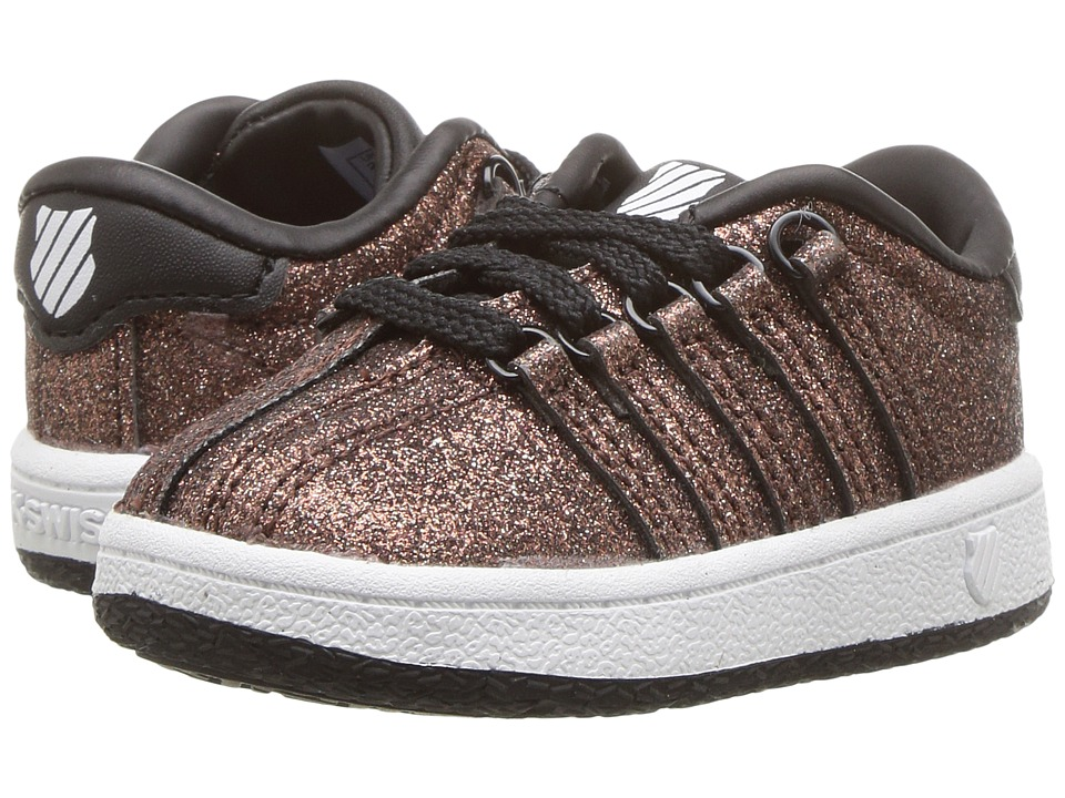 K-Swiss Kids Classic VNtm (Infant/Toddler) (Bronze Sparkle) Girls Shoes