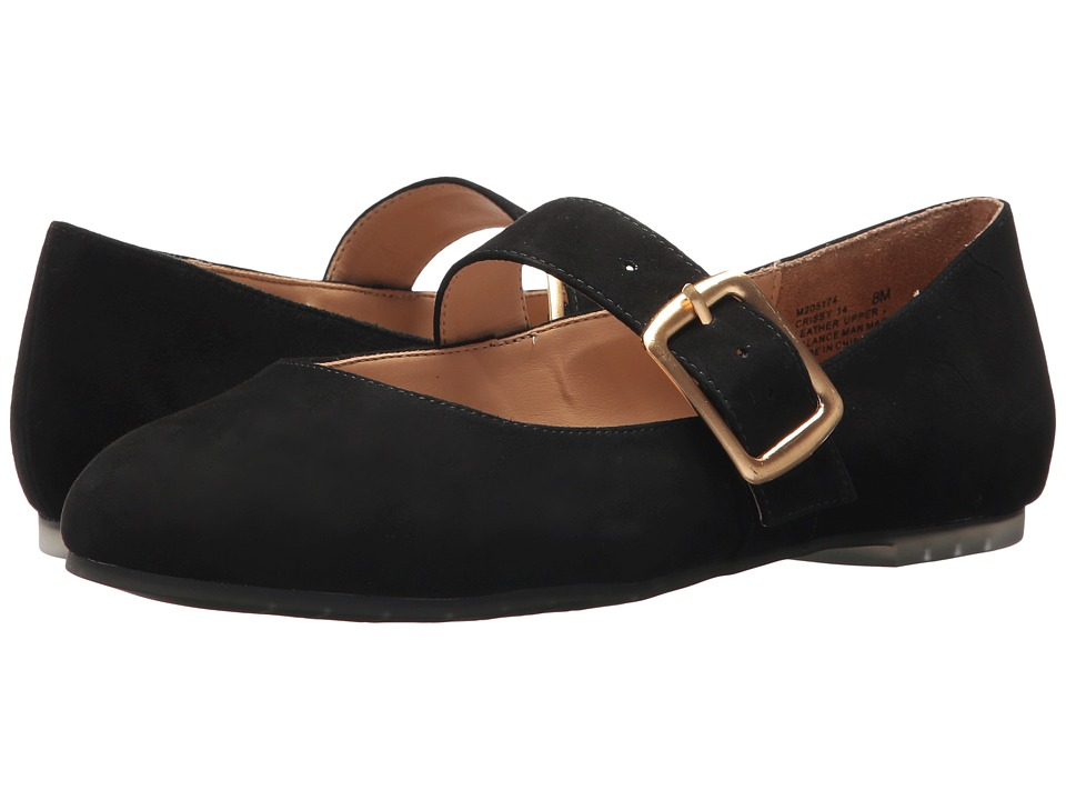 1920s Style Shoes Me Too - Crissy Black Kid Suede Womens Maryjane Shoes $99.00 AT vintagedancer.com