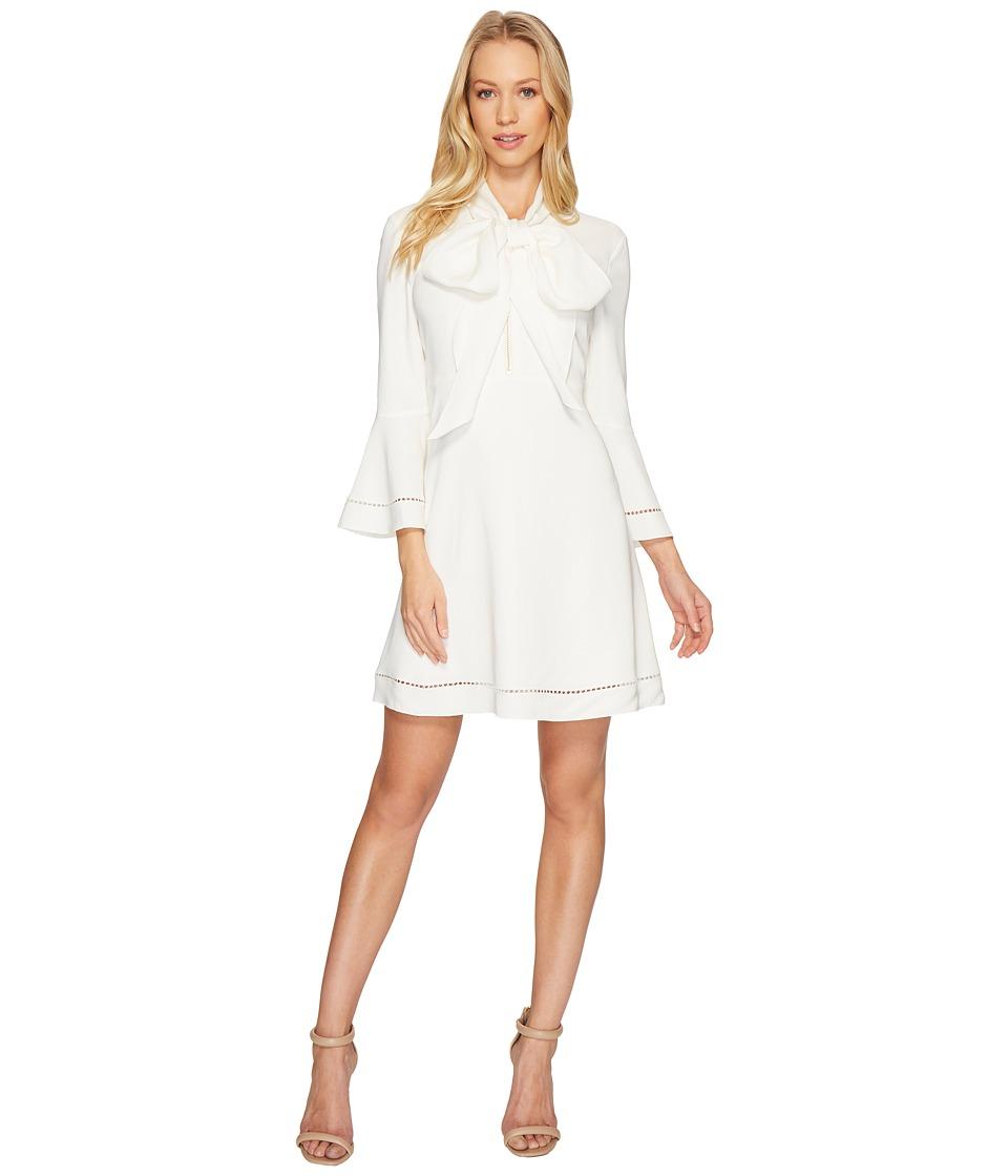 Rachel Zoe Spongey Viscose Wynn Dress (Ecru) Women