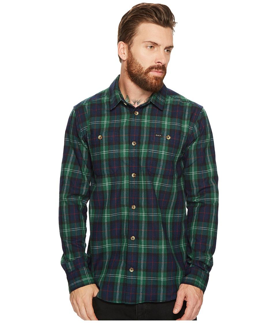 RVCA - Bone Flannel Long Sleeve Shirt