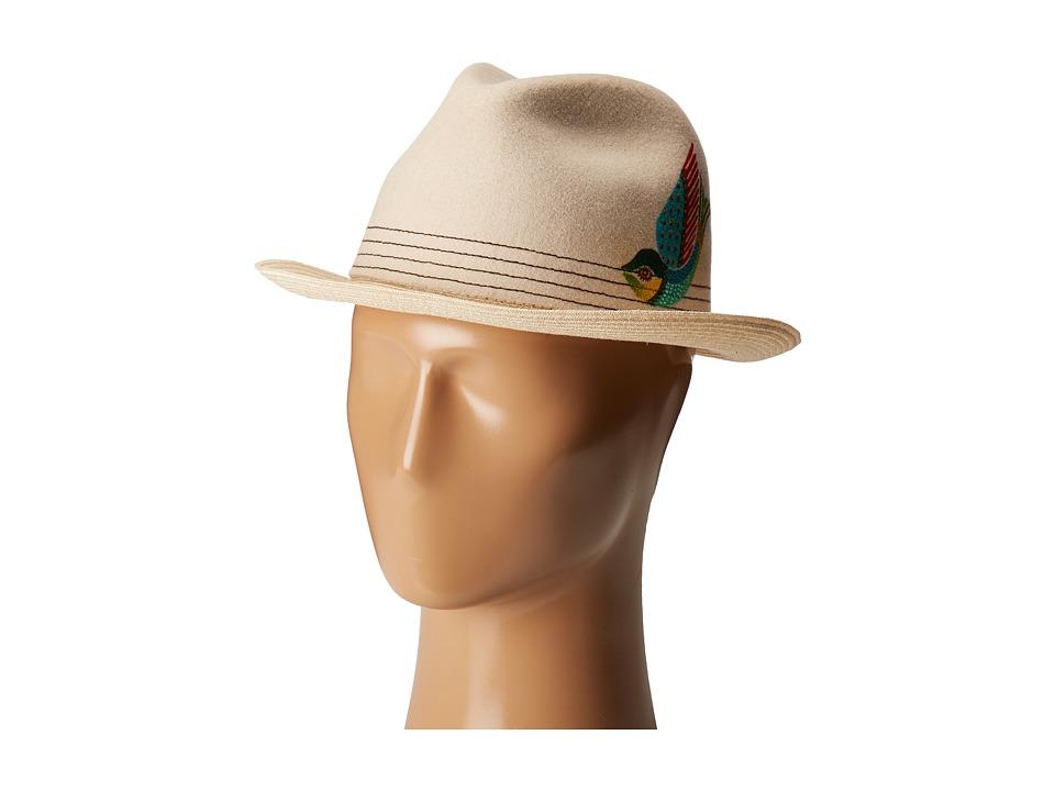 Carlos Santana Felt/Hemp Braid Fedora (Natural) Fedora Hats