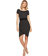 XOXO - Off the Shoulder Stripe Dress