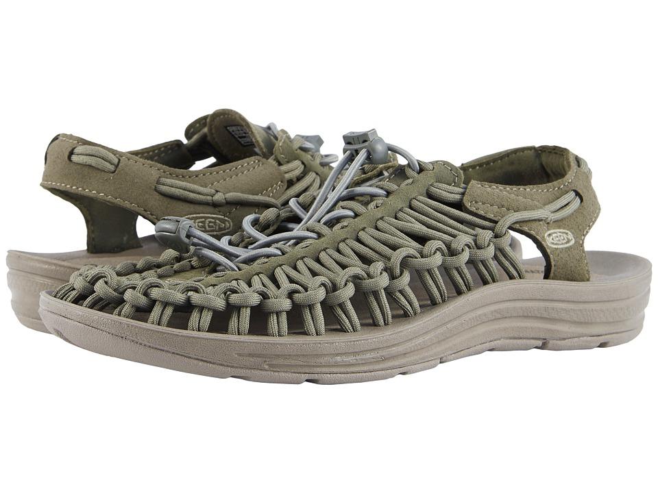 Keen Uneek (Dusty Olive/Brindle) Women's Toe Open Shoes
