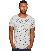 Scotch & Soda - Ams Blauw All Over Print Tee with Regular Fit