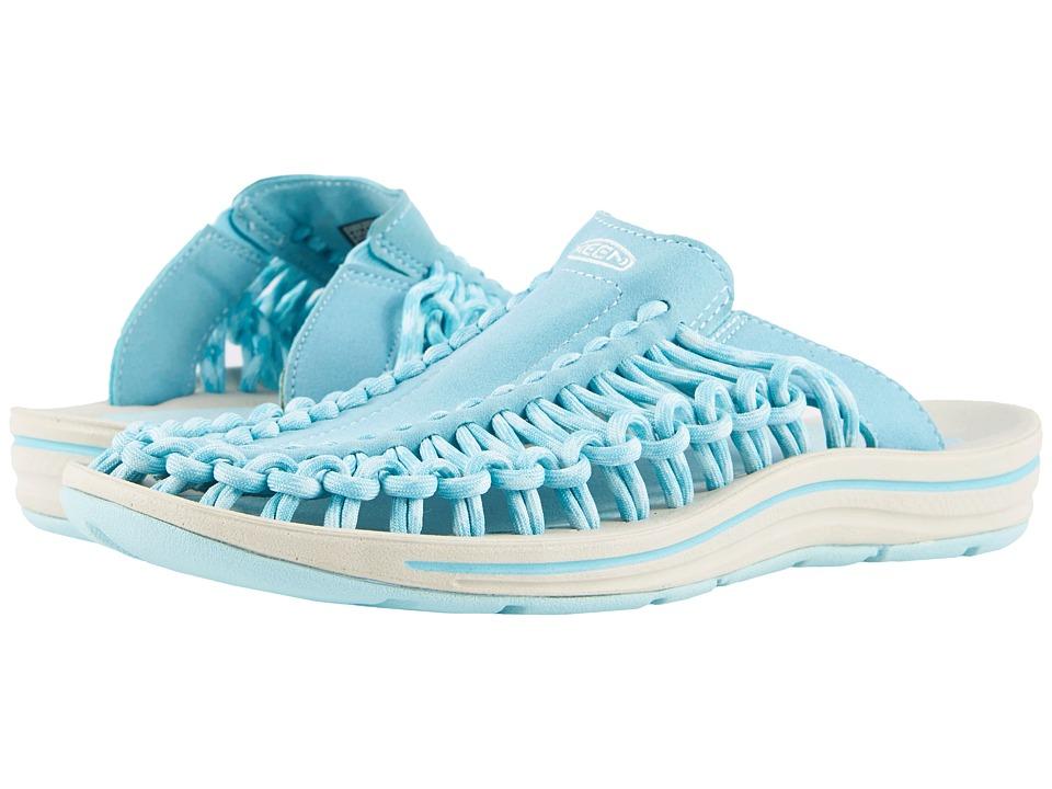 Keen Uneek Slide (Aqua Sea/Pastel Turquoise) Women's Shoes