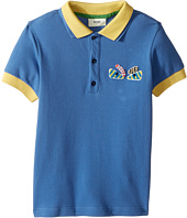 Fendi Kids - Short Sleeve Polo w/ Monster Eyes Detail on Front (Little Kids)