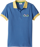 Fendi Kids - Short Sleeve Polo w/ Monster Eyes Detail on Front (Big Kids)