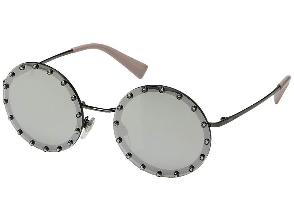 Valentino - 0VA2010B (Ruthenium/Black Swarovski Crystal/Rose) Fashion Sunglasses