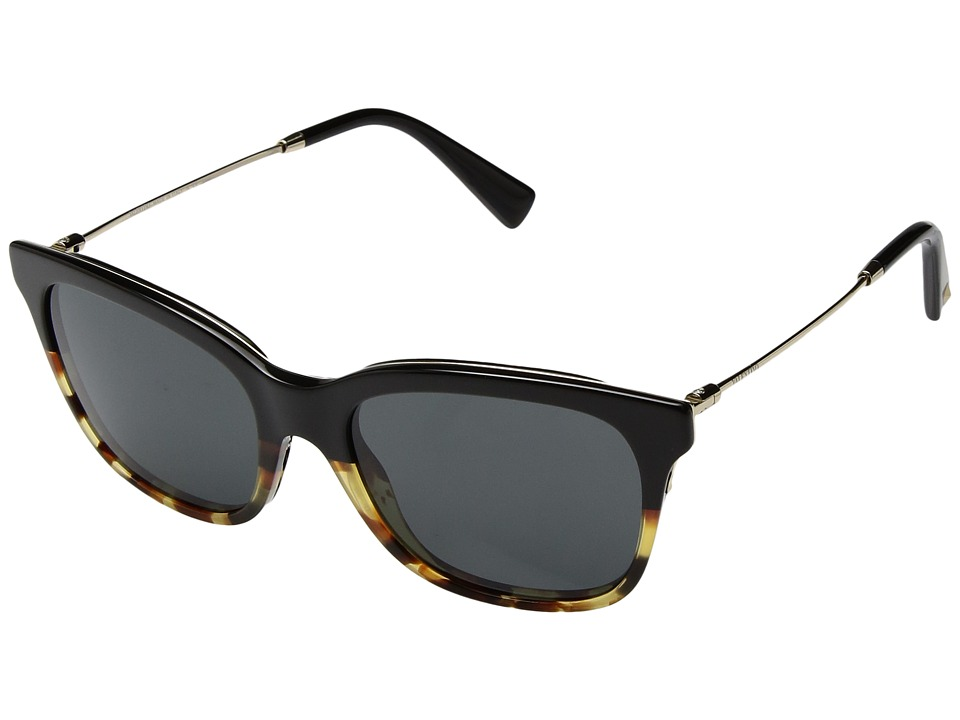 Valentino - 0VA2011 (Black/Havana/Smoke) Fashion Sunglasses