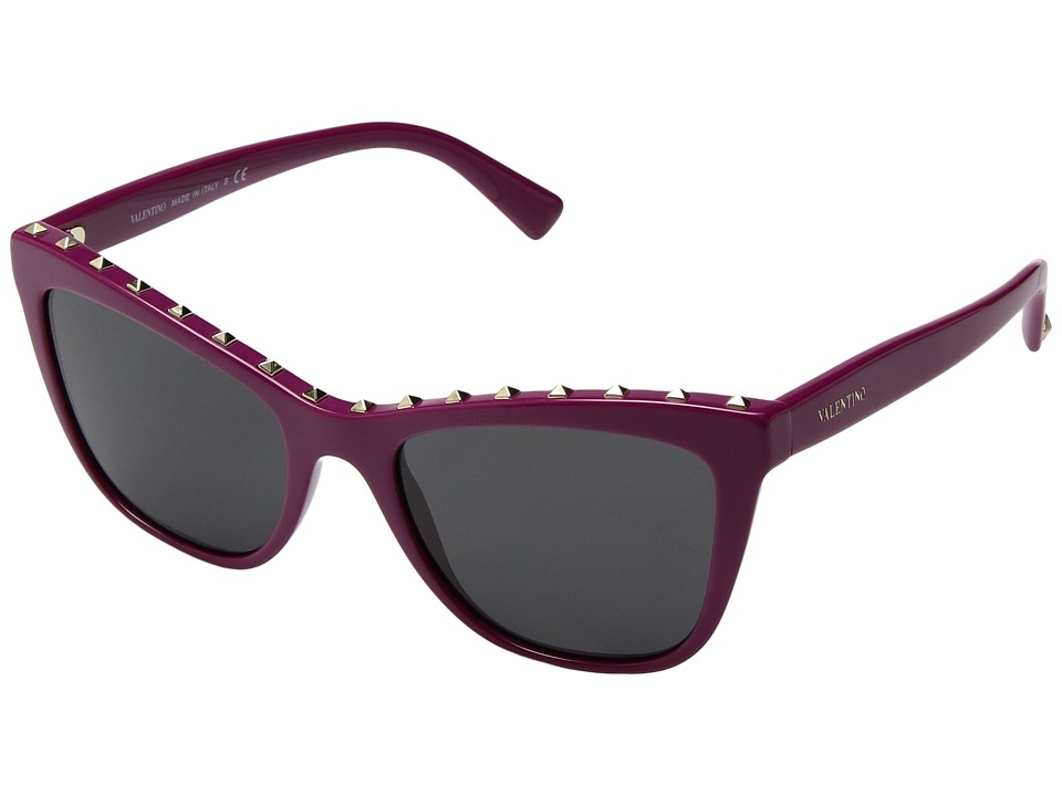 Valentino - 0VA4022 (Fuchsia/Dark Smoke) Fashion Sunglasses