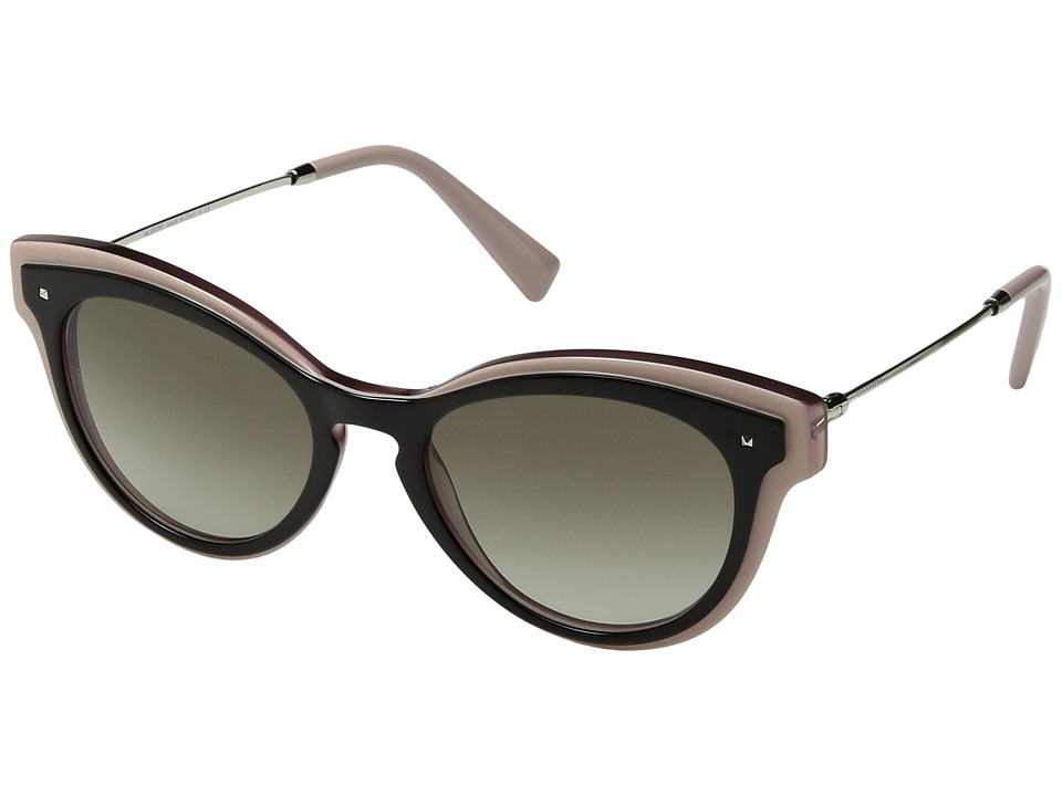 Valentino - 0VA4017 (Top Black/Pink/Transparent Pink/Gradient Green) Fashion Sunglasses