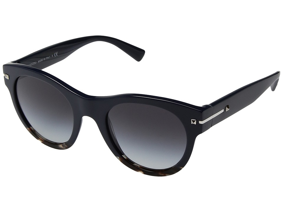 Valentino - 0VA4020 (Blue/Ice Havana/Smoke Gradient) Fashion Sunglasses
