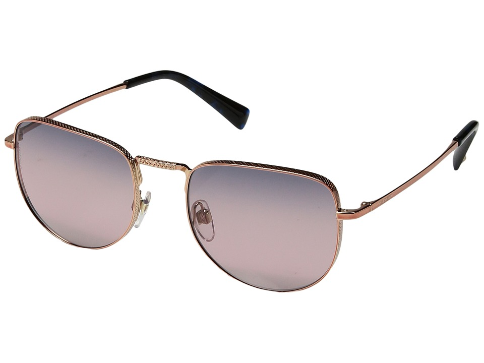 Valentino - 0VA2012 (Rose Gold/Gradient Blue Mirror Pink) Fashion Sunglasses