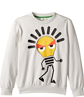 Fendi Kids - Long Sleeve Sweat Top w/ Lightbulb Design on Front (Little Kids)