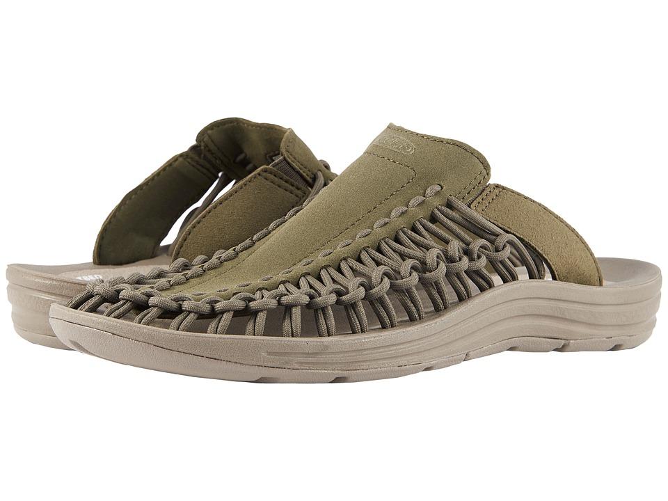 Keen - Uneek Slide (Dusty Olive/Brindle) Mens Sandals