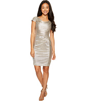 Tahari by ASL Petite - Petite Metallic Knit Dress