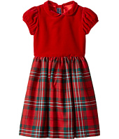 Oscar de la Renta Childrenswear - Holiday Plaid Wool Gathered Sleeve Dress (Toddler/Little Kids/Big Kids)