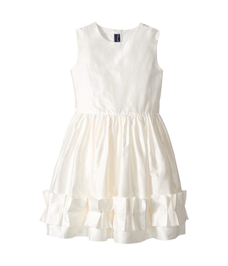 Oscar de la Renta Childrenswear - Cherie Taffeta Dress w/ Origami Ruffle Detail