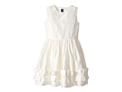 Oscar de la Renta Childrenswear Cherie Taffeta Dress w/ Origami Ruffle Detail (Toddler/Little Kids/Big Kids)