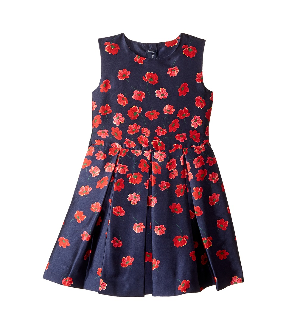 Oscar de la Renta Childrenswear - Degrade Poppies Mikado Party Dress