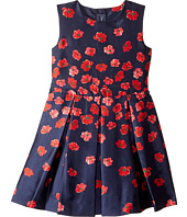 Oscar de la Renta Childrenswear - Degrade Poppies Mikado Party Dress (Toddler/Little Kids/Big Kids)