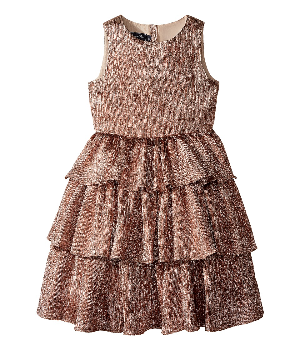 Oscar de la Renta Childrenswear - Crinkle Lame Tiered Dress