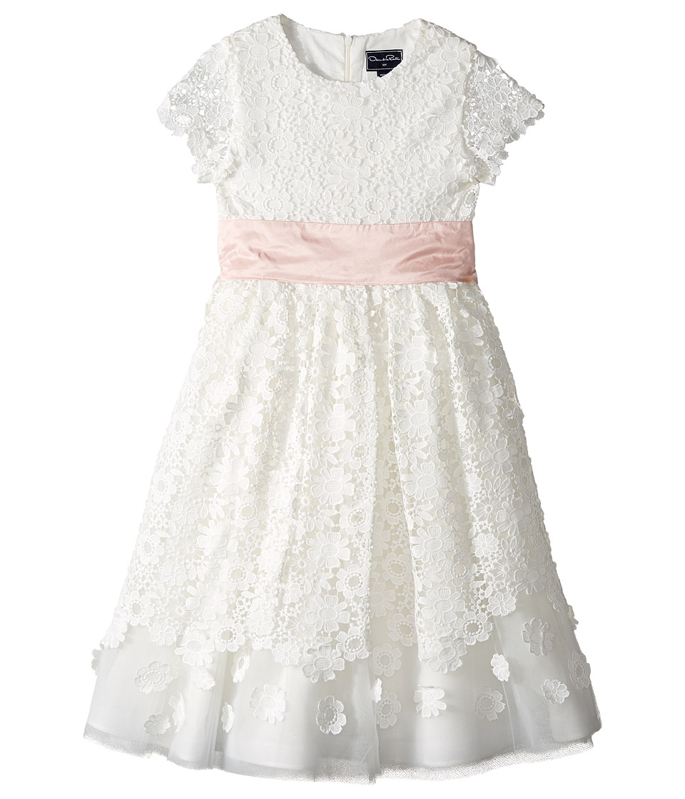 Oscar de la Renta Childrenswear - Emma Tulle Dress with Guipure Lace