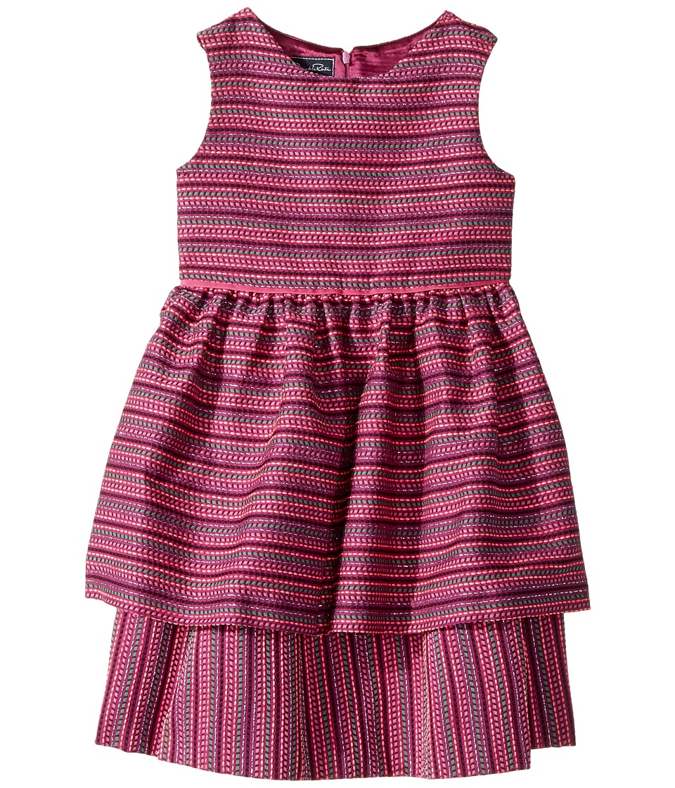Oscar de la Renta Childrenswear - Tweed Scallop Hem Layer Dress