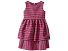 Oscar de la Renta Childrenswear - Tweed Scallop Hem Layer Dress (Toddler/Little Kids/Big Kids)