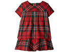 Oscar de la Renta Childrenswear - Holiday Plaid Wool Multi Layer Dress (Toddler/Little Kids/Big Kids)
