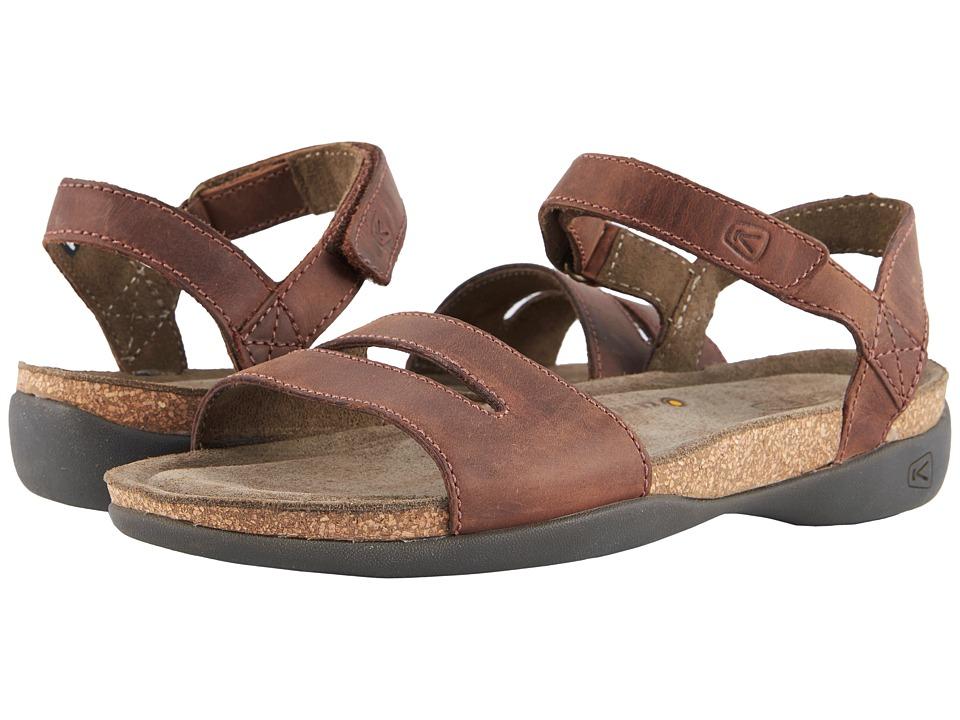 Keen Ana Cortez Sandal (Brisk/Espresso) Women's Shoes