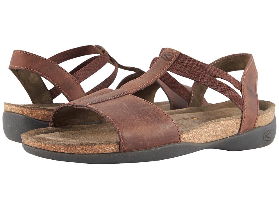 Keen Ana Cortez T-Strap (Brisk/Espresso) Women's Shoes