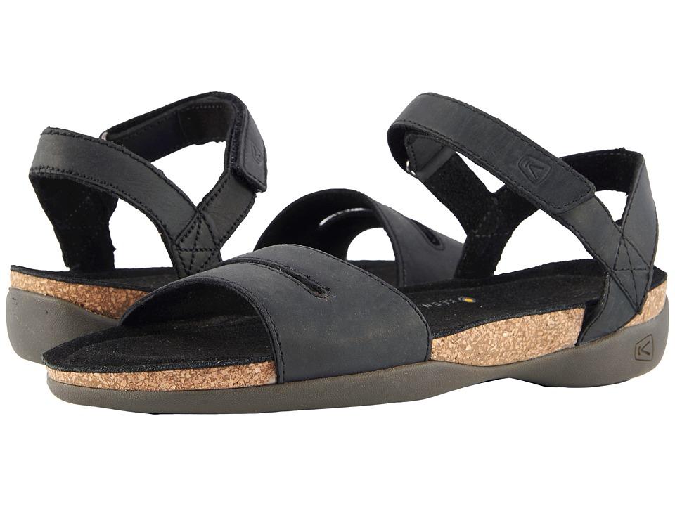 Keen Ana Cortez Sandal (Black/Black) Women's Shoes