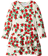 mini rodini - Rose Long Sleeve Frill Dress (Infant/Toddler/Little Kids/Big Kids)